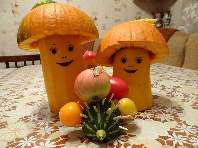 гриб из тыквы