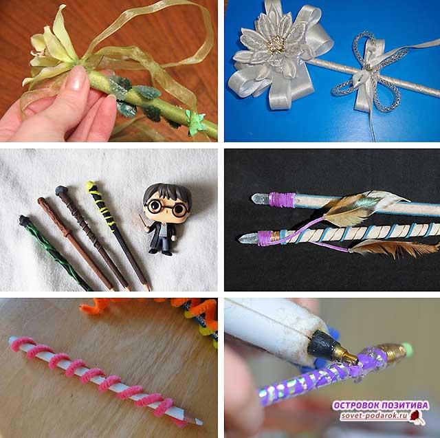 волшебная палочка из карандаша для девочек