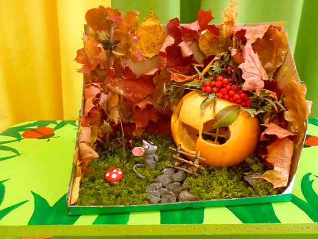 поделки из природного материала на выставку в детский сад