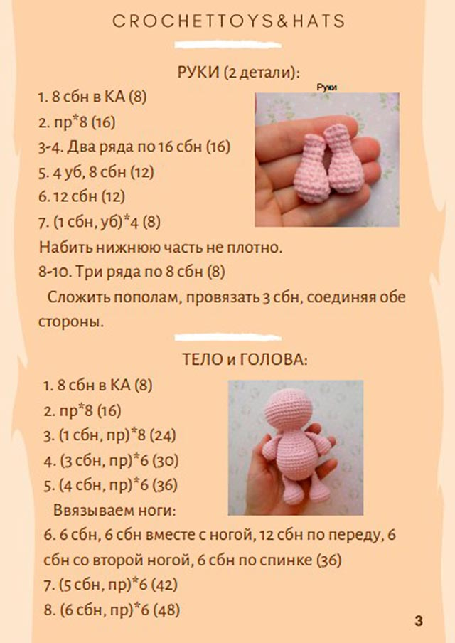 схема тела и головы свинки