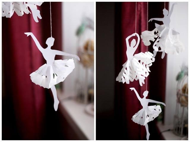 балеринки из снежинки
