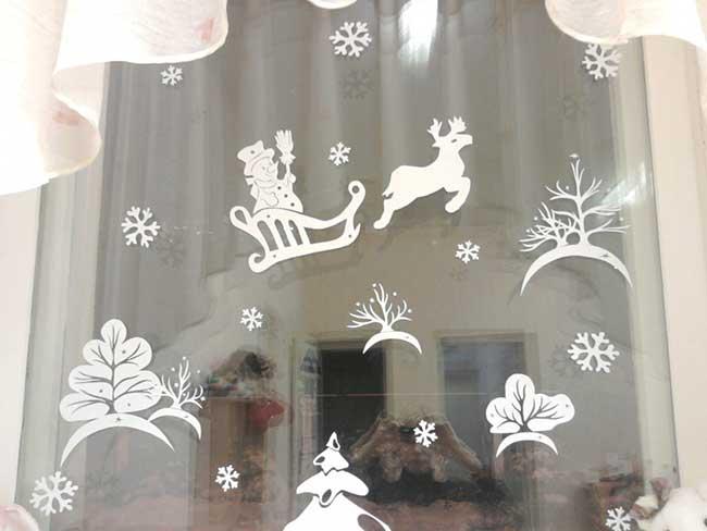 дед мороз на стекле
