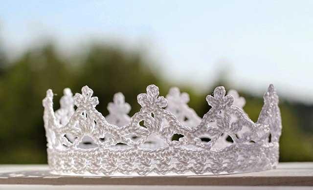корона вязаная крючком