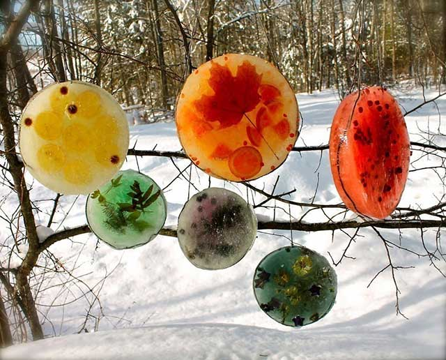 ледяные новогодние украшения
