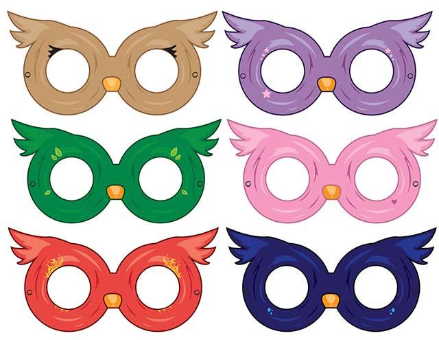очки для костюма совы