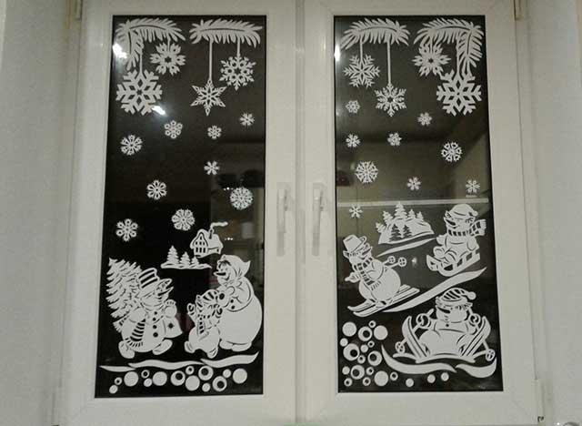 окно на новый год