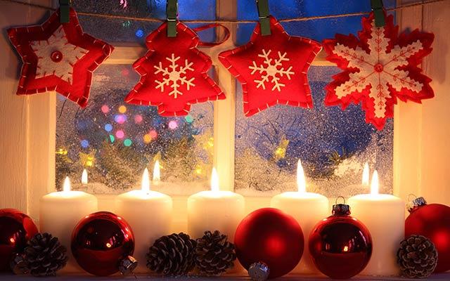 окно новогоднее