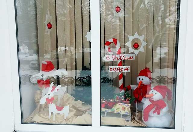 окно с новым годом