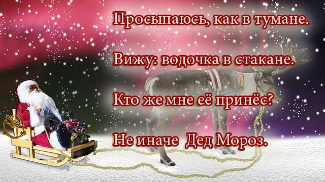 шуточный новогодний плакат