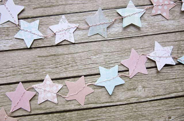 гирлянда звезда из бумаги