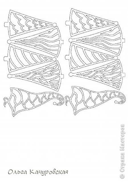 эскиз елочек для вырезания