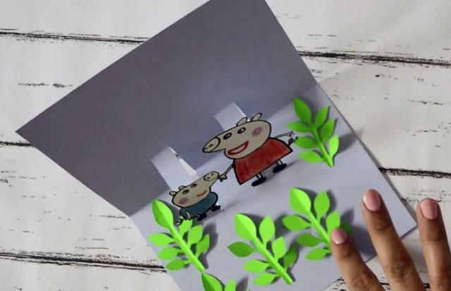 открытка свинка пеппи