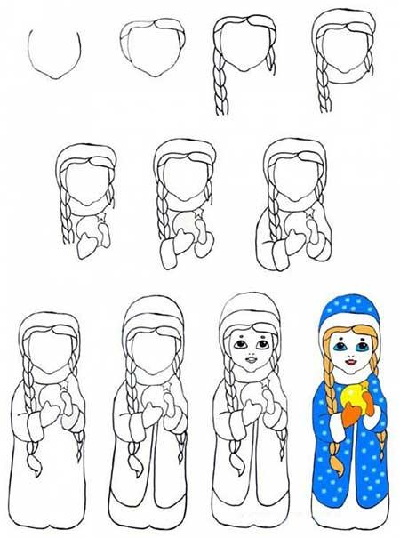 рисунок снегурочки