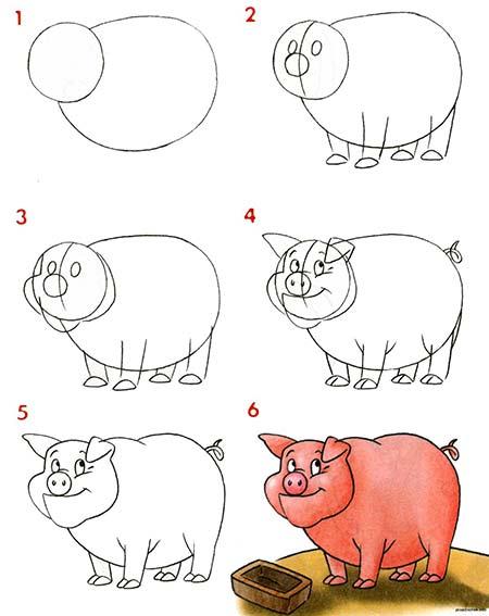 рисунок свинки