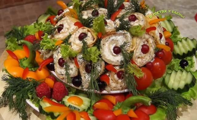 """салат """"Цветочная клумба"""""""