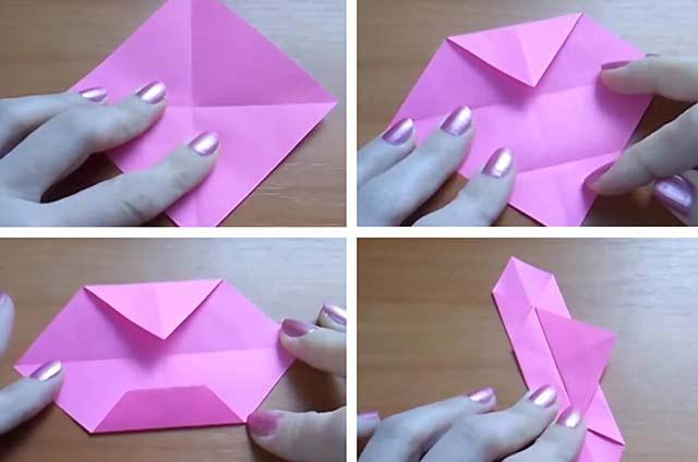корзинка в технике оригами