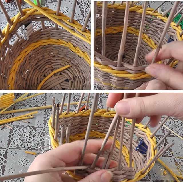 плетение корзиночки