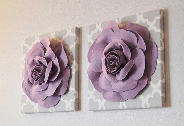 розы из фоамирана на стену