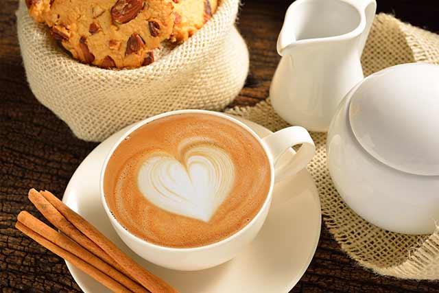кофе сердечком