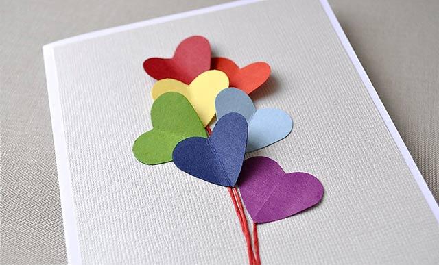 поделка с сердечками