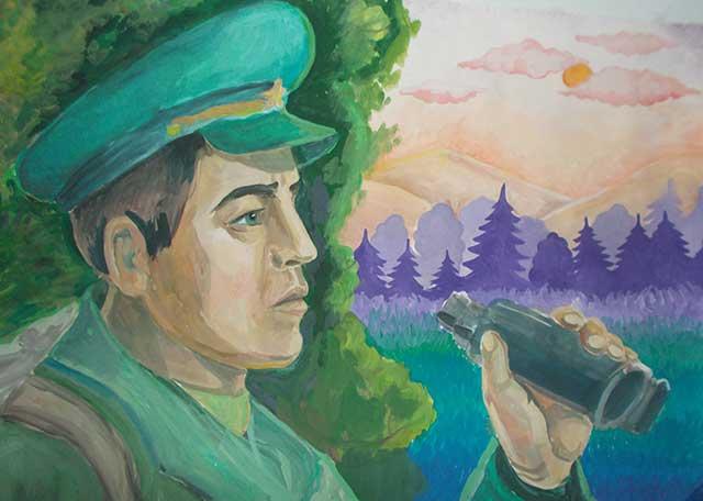 рисунок пограничника