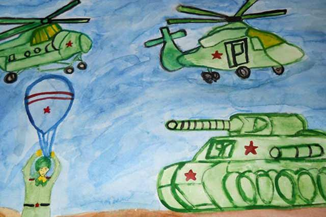 рисунок на военную тему