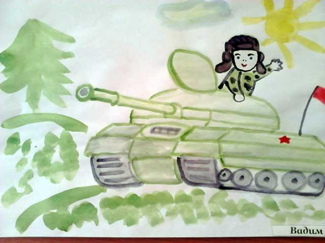 рисунок танкиста