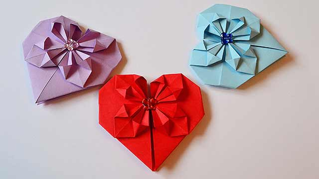 бумажные сердечки