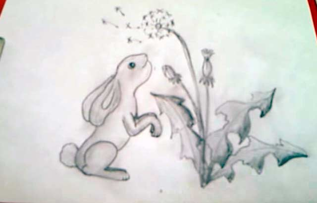 рисунок зайчика