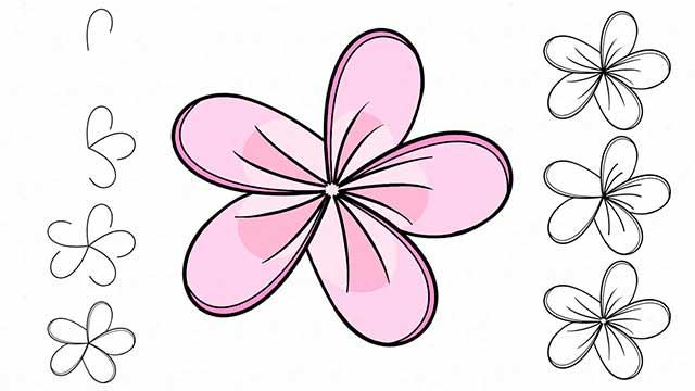 силуэт цветочка