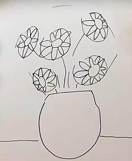 силуэт цветов