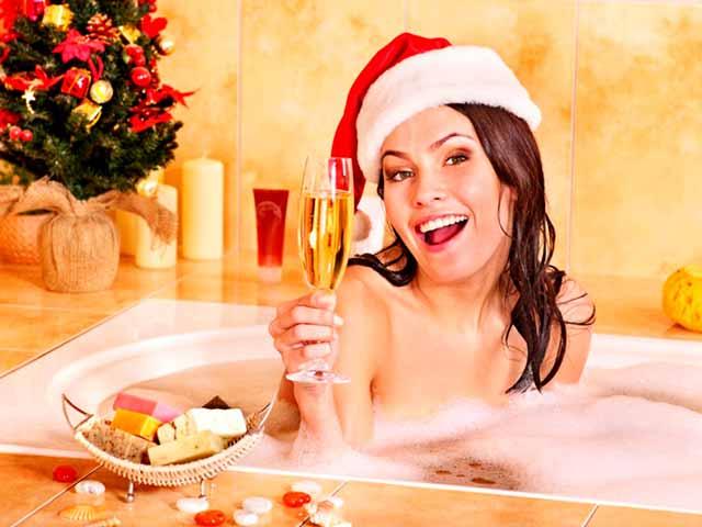 новый год в ванной