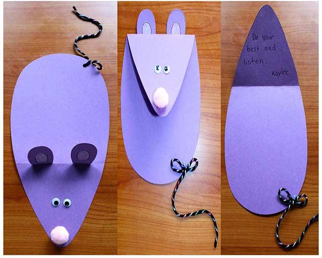 бумажная мышка