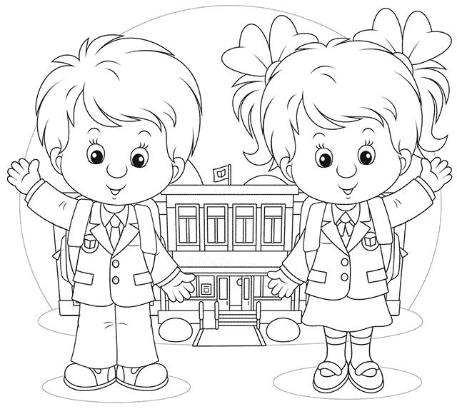 рисунок учеников школы