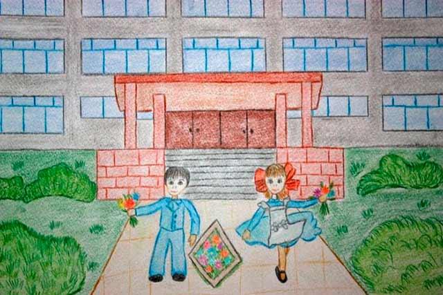 рисунок школы
