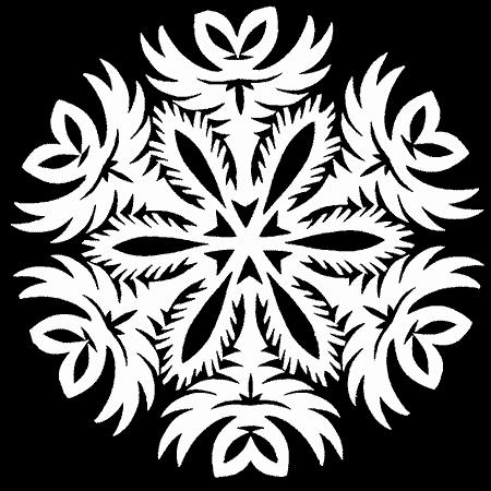 снежинки на окно