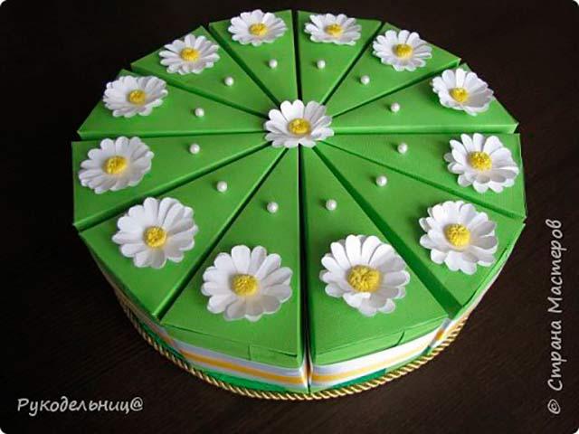 торт поделка из бумаги