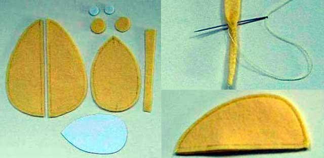 выкройка мышки из фетра