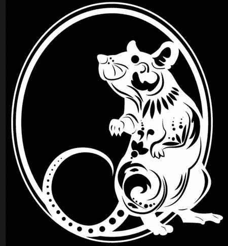 вытынанка крысавытынанка крыса