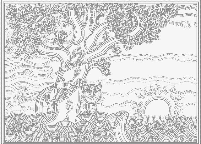 дуб раскраска