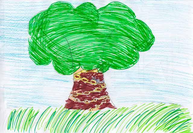 У лукоморья дуб зеленый - рисунки детей и художников