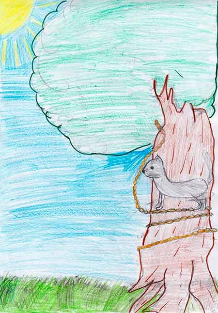 рисунок дуба