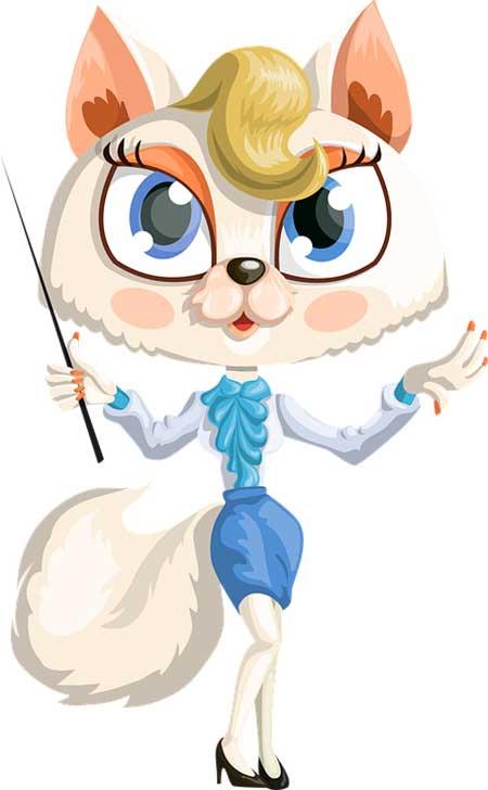 кошка учитель