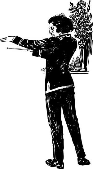 рисунок дирижера