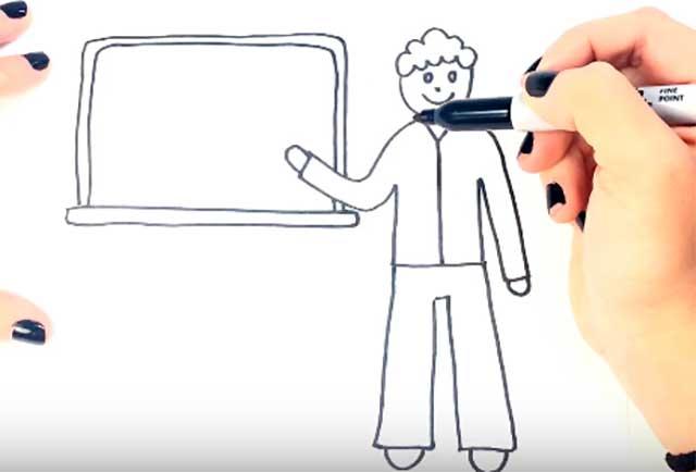 рисунок учителя мужчины