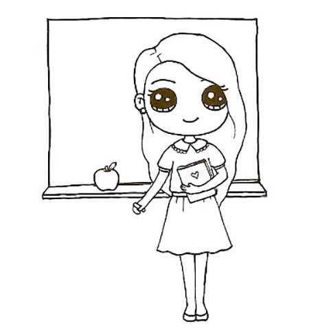 учительница возле доски