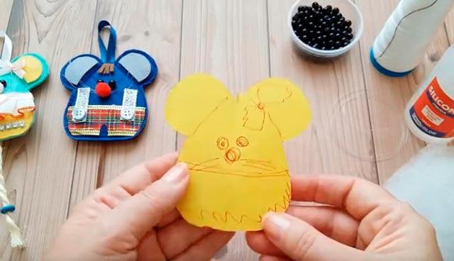 шаблон мышки