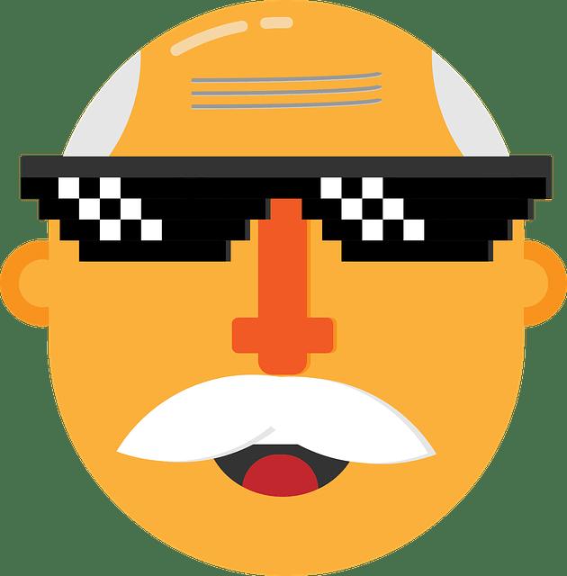 дед в очках