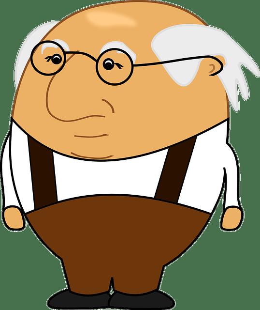 дедушка седой