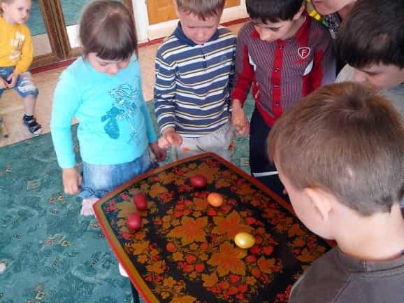 детская игра на пасху